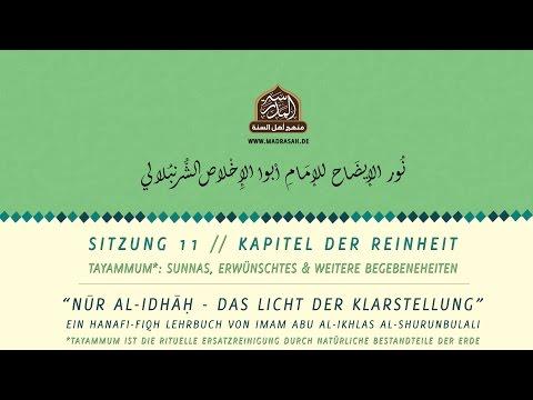 Nur al Idhah 11 | Tayammum: Sunnas, Erwünschtes & weitere Begebenheiten
