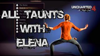 Video Uncharted 4 A Thief's End - All Taunts with Elena (Dab, Twerk, Hotline Bling, DYELB? etc.) MP3, 3GP, MP4, WEBM, AVI, FLV Juli 2018