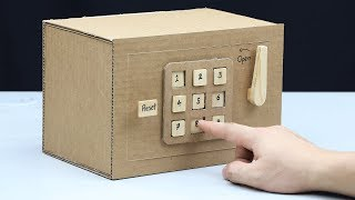 Video Build a Safe with Combination Number Lock from Cardboard MP3, 3GP, MP4, WEBM, AVI, FLV September 2018