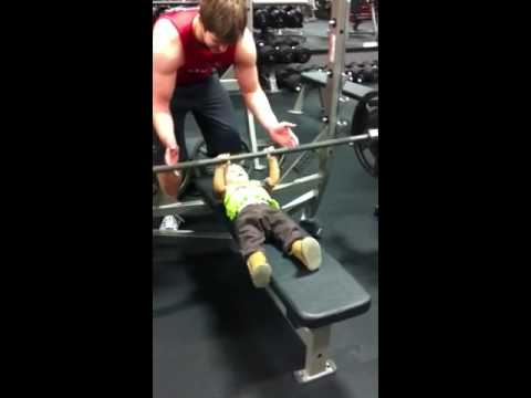 Strongest Baby Bench Press Light Weight Baby 135