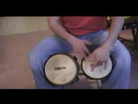 bongo - very easy steps for bongos rithm, clase basica de bongo, martillo,