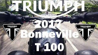 3. 2017 Triumph Bonneville T100 Black First Ride