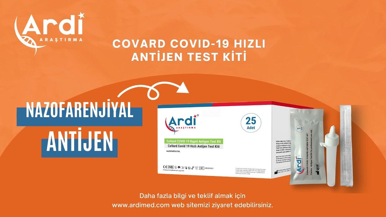 CoVard Covid-19 Hızlı Antijen Test Kiti (Nasopharyngeal)