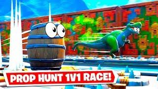 I made a Prop Hunt Deathrun RACE in Fortnite... (Fortnite Creative)