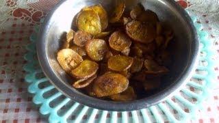 Valakai varuval or Raw banana fry