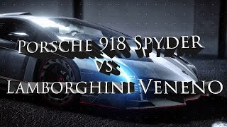 "Need For Speed Rival Gameplay-Porsche 918 Spyder vs Lamborghini Veneno in Full HD.Need for Speed Rivals features gameplay similar to earlier Need for Speed games, such as Need for Speed: Most Wanted and Need for Speed: Hot Pursuit.[5] Players take on the role of a Racer or Cop, with each side of the law offering its own play style. Rivals features eleven upgradeable gadgets such as EMPs, shockwaves, spike strips, and the ability to call in roadblocks. The game takes place in a fictional location known as Redview County. The open world features a similar set-up to Most Wanted, with several jumps, speed traps, and unlockable cars, as well as shortcuts that are not shown on the map.Rivals features a career progression system for both Cop and Racer.] Progression is made by means of Speedlists for Racer and Assignments for Cop, which are sets of objectives which involve dangerous driving, maneuvers, and race standings. When the player completes a set of objectives, the player levels up and unlocks new content, and is presented with another set of objectives to choose from.The Autolog system, a competition-between-friends system, developed by Criterion for Hot Pursuit, lets an Assignment or Speedlist to other players' times and posts them to a Speed Wall for local and global leaderboards.Rivals features a new social system called the AllDrive, which allows players to transition from playing alone, to playing with friends, described as ""destroying the line between single player and multiplayer"". This allows players to in engage co-op gameplay as well as play against each other.The game also features a dynamic weather system, which makes ""the world feel alive in a much bigger sense than any other Need for Speed game"".Rivals also takes on some gameplay styles of earlier Underground titles in the franchise with cues on aesthetic vehicle personalization, such as paint jobs, decals, rims and license plates and liveries can be modified, as well as vehicle performance, and various 'Pursuit Tech' gadgets. With the exception for the Aston Martin Vanquish, all vehicles are only available in either racer or police variant."