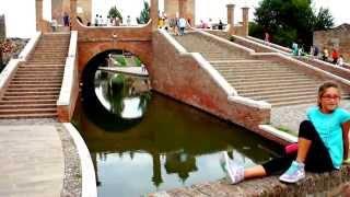Comacchio Italy  City pictures : Famous Trepponti Bridge of Comacchio in Italy