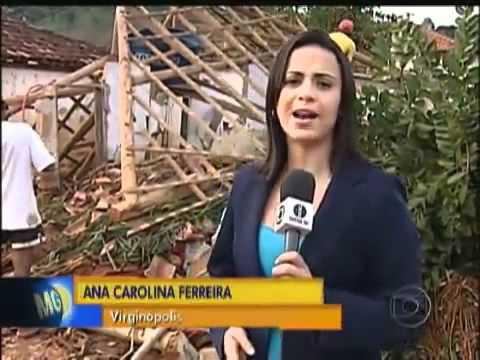 Temporal provoca destruição em Virginópolis