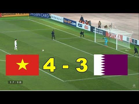 Penalties U23 Vietnam Vs U23 Qatar 4-3 - Thời lượng: 11:12.