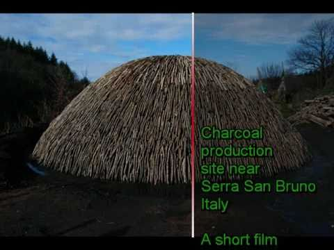 Serra San Bruno charcoal production.