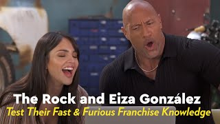 The Rock and Eiza Gonzalez Test Their Fast and Furious Franchise Knowledge by POPSUGAR Girls' Guide