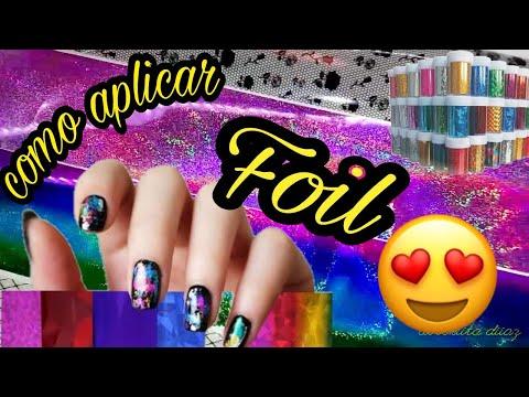 #Nails #uñas Decoracion de uñas con Foil Uñas Decoradas 2018  Uñas de moda .