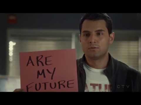 "Samy Osman as ""Sam"" in Saving Hope - Episode 401 - Viv & Sam Card Scene"