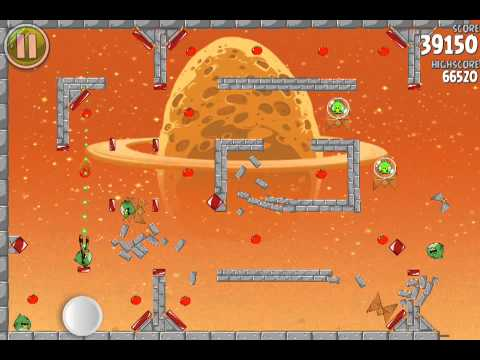 Angry Birds Space Bonus Level E-9 Pig Dipper 3 Star Walkthrough (видео)