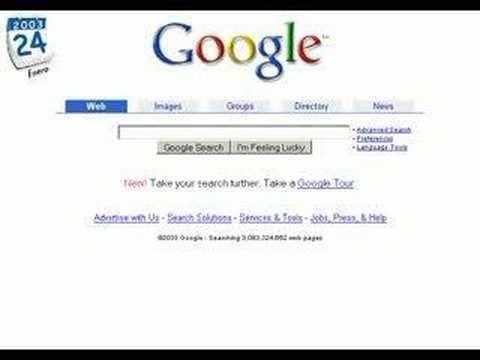 """google 1998. Con el título de """"Google"""