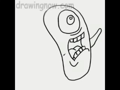 Learn to Draw Plankton from Spongebob Squarepants