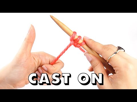 How to CAST ON Knitting for Total Beginners