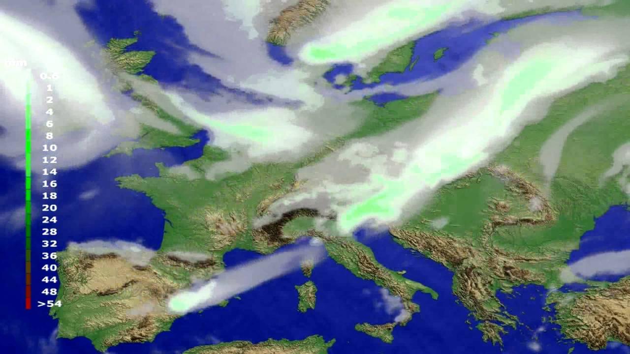 Precipitation forecast Europe 2016-08-07
