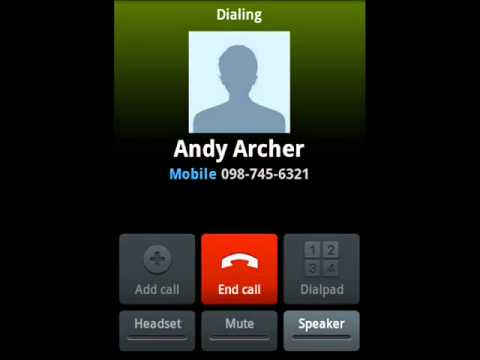 Video of Voice Speed Dial