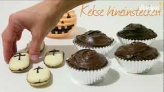 Halloween Muffins dekorieren