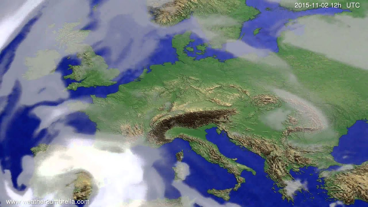 Cloud forecast Europe 2015-10-29