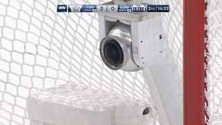 Ilya Mikheyev's goal shatters the in-net camera by NHL
