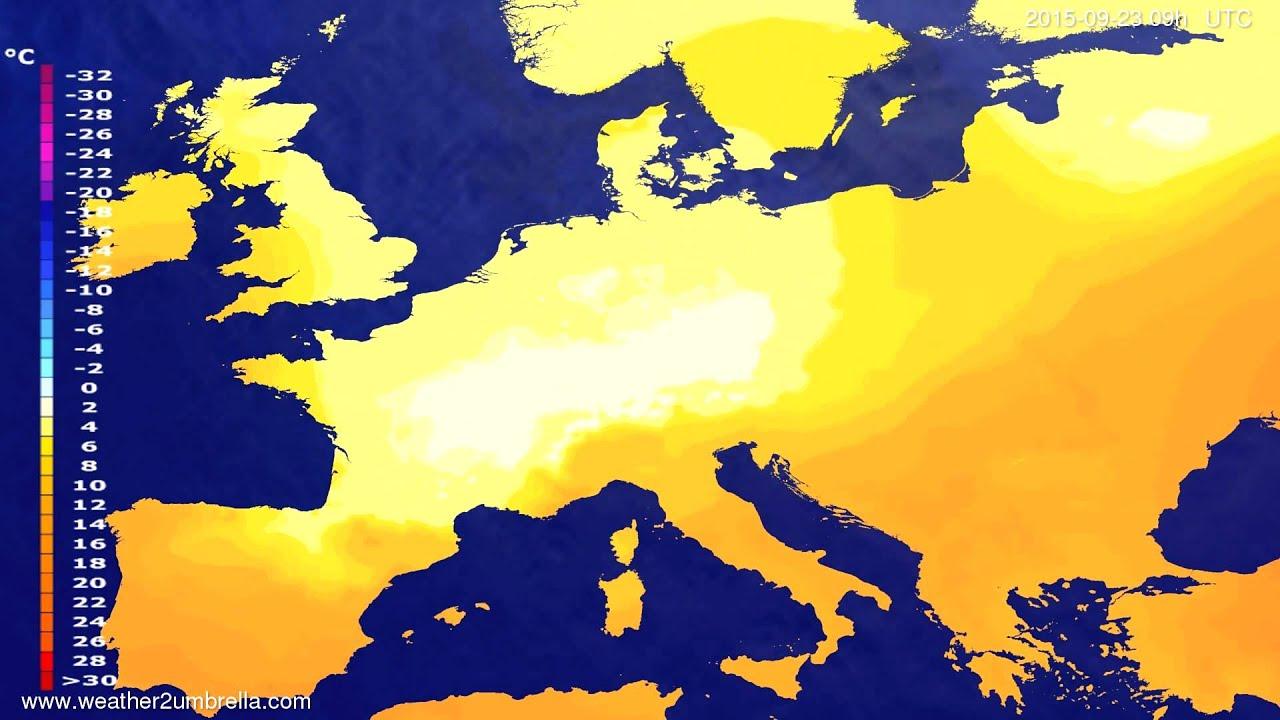 Temperature forecast Europe 2015-09-19