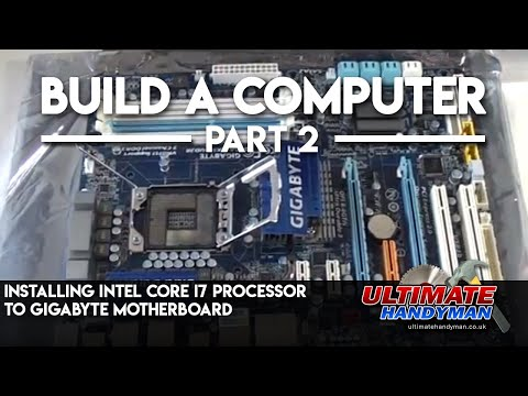 processor - http://www.ultimatehandyman.co.uk/forum1/ shows you how to install the intel core i7 processor to a gigabyte motherboard. This tutorial also shows you how to...
