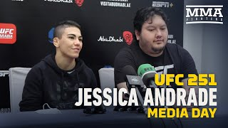 UFC 251: Jessica Andrade Media Day Scrum - MMA Fighting by MMA Fighting
