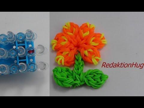 Loom Bands mit Rainbow Loom Anleitung Deutsch Blume L – Veronika Hug