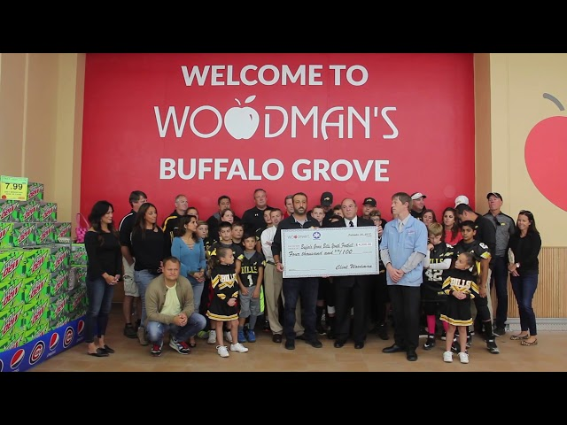 Woodman's & Kimberly-Clark Present Check to the Buffalo Grove Bills Youth Football w/ Mark Kelso