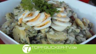 Sächsischer Kartoffelsalat mit selbstgemachter Mayonnaise