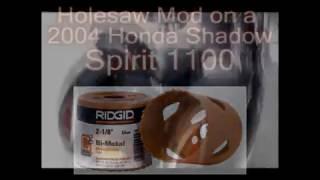 8. 2004 Honda Shadow Spirit 1100 Exhaust Holesaw Modification
