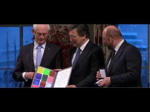 Nobel Peace Prize 2012 in Oslo - winner EU - European Union awarded