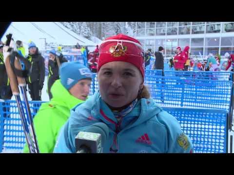 Ирина Услугина после женского пасьюта на 5-м этапе Кубка мира по биатлону в Рупольдинге