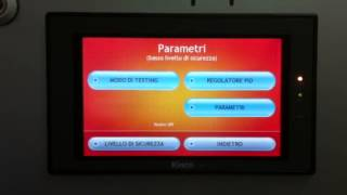 Control panel is switched to Italian language