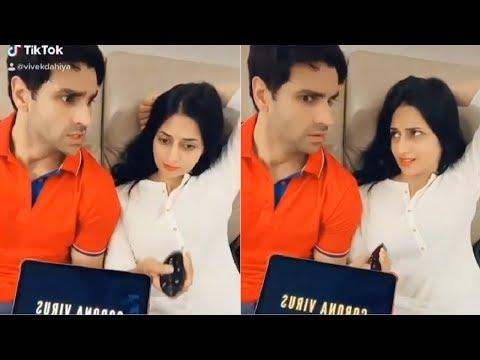 Divyanka Tripathi & Husband Vivek Dahiya Funny Video During Lockdown