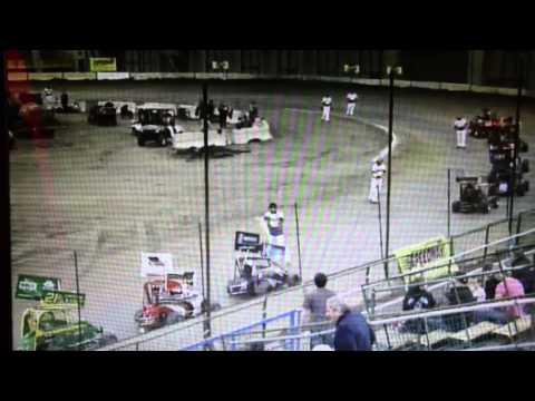 Tulsa Shootout 2014 A Feature Jr Sprints Part 2