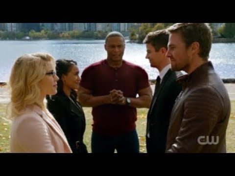 Westallen and Olicity Wedding | DC's Legends Of Tomorrow 3x08 | Crisis On Earth X