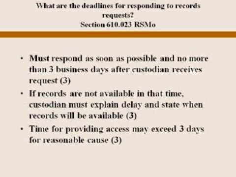 Missouri Sunshine Law Primer