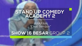 Video Arafah - Chat Tembok (SUCA 2 - 16 Besar Group 2) MP3, 3GP, MP4, WEBM, AVI, FLV Oktober 2017