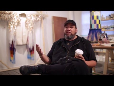 Jeffrey Gibson Talks Channeling His Healing Experience In The Ritualistic Craft Process