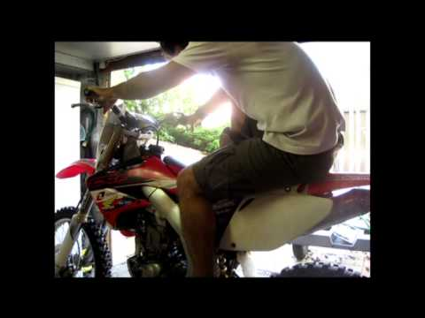comment demarrer crf 450