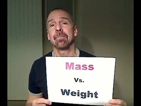 The Mass Vs Weight Song - Mr. Edmonds -ROCK to an Oldie