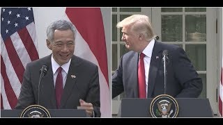 Video Singapore Prime Minister STUNS President Trump at Joint Press Conference MP3, 3GP, MP4, WEBM, AVI, FLV Desember 2018
