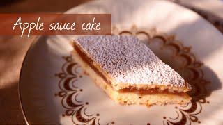 Polish apple sauce cake