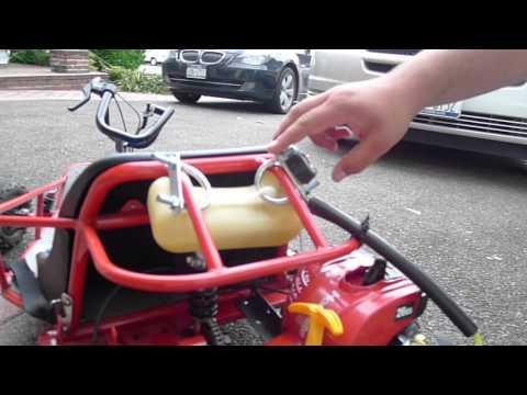 How to convert a Razor Dune Buggy electric go kart to a Razor weed wacker go kart