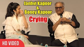 Video Janhvi Kapoor & Boney Kapoor Emotional Tears 😭😭 While Talking On Sridevi MP3, 3GP, MP4, WEBM, AVI, FLV Januari 2019