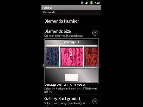 Video of Rain of Diamonds LiveWallpaper