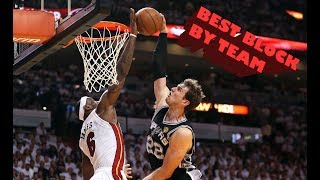 NBA Best Block Ever By Team